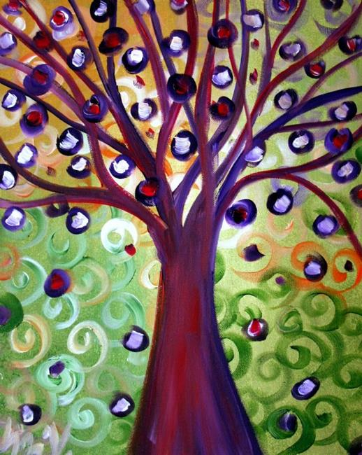 Art: Wishing Tree-Fantasy Landscape by Artist LUIZA VIZOLI
