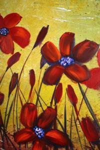 Detail Image for art RED WILD FLOWERS