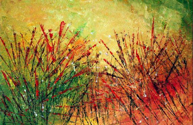 Art: AUTUMN GRASS by Artist LUIZA VIZOLI