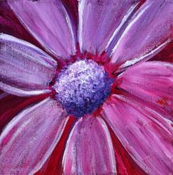 Art: PURPLE FLOWER by Artist LUIZA VIZOLI