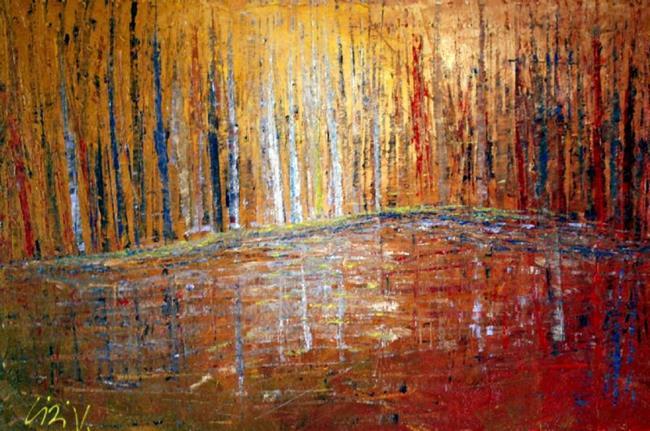 Art: LIGHT in the FOREST by Artist LUIZA VIZOLI