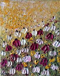 Art: FLOWERS FIELD by Artist LUIZA VIZOLI