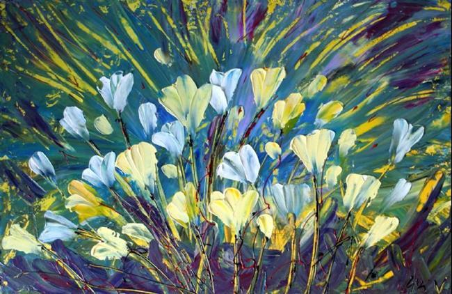 Art: Flowers Of My Dreams by Artist LUIZA VIZOLI