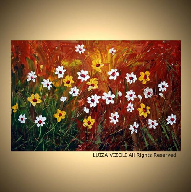Art: LITTLE FLOWERS by Artist LUIZA VIZOLI