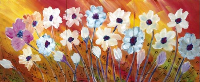 Art: SUMMER FLOWERS by Artist LUIZA VIZOLI
