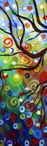 Detail Image for art Journey through Seasons 48''x36'' Triptych Landscape Art