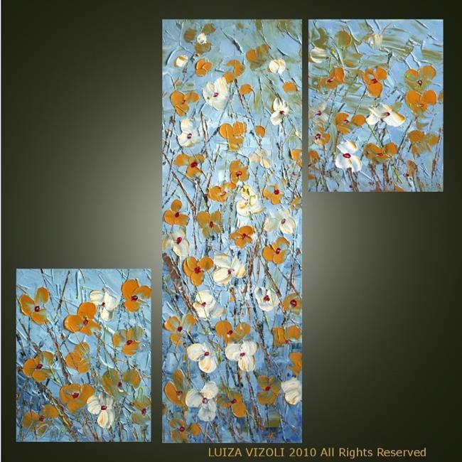 Art: FLOWERS ON BLUE SKY.jpg by Artist LUIZA VIZOLI