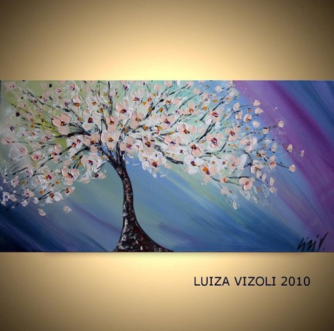 Art: BLOSSOM in the SPRING WIND.jpg by Artist LUIZA VIZOLI