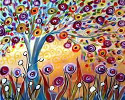 Art: TREE and FLOWERS in the Sunlight -sold by LUIZA VIZOLI