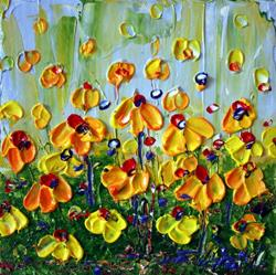 Art: YELLOW SPRING FLOWERS by LUIZA VIZOLI