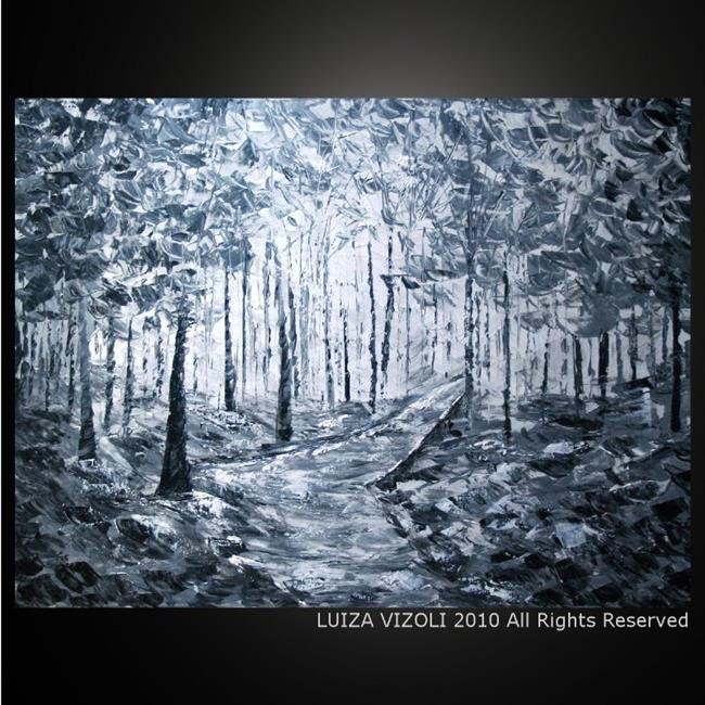 Art WINTER WOODS In BLACK And WHITE By Artist LUIZA VIZOLI