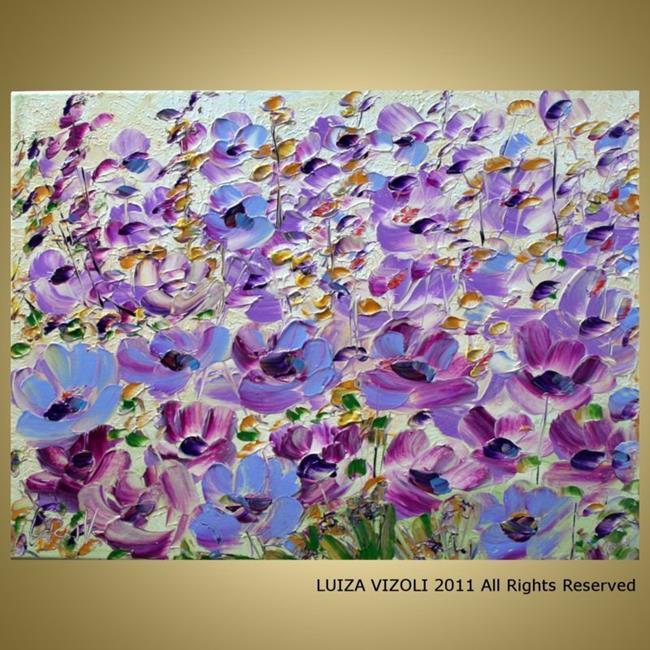 Art: WILDFLOWERS in BLOOM by Artist LUIZA VIZOLI