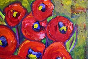 Detail Image for art POPPIES BOUQUET