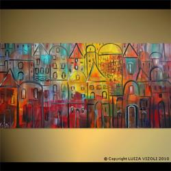 Art: OLD CITY at SUNSET by Artist LUIZA VIZOLI