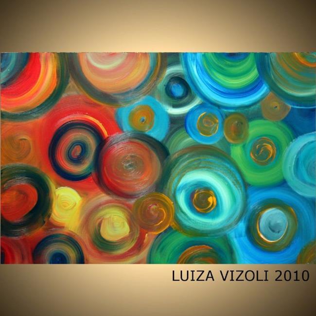 Art: CIRCLES and COLORS by Artist LUIZA VIZOLI