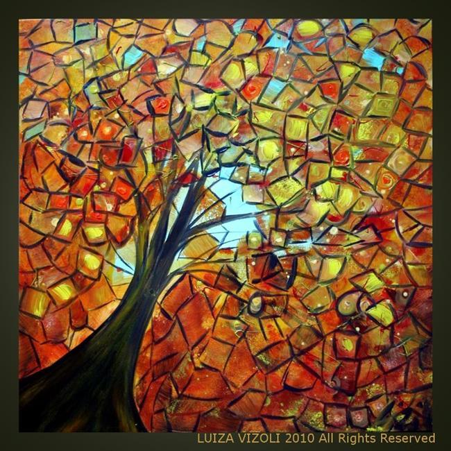 Art: AUTUMN TREE by Artist LUIZA VIZOLI