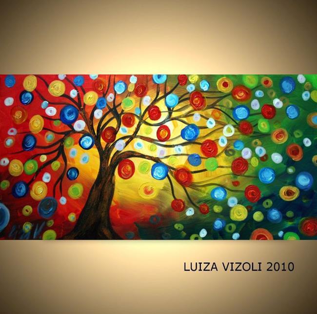 Art: HAPPY DAY by Artist LUIZA VIZOLI