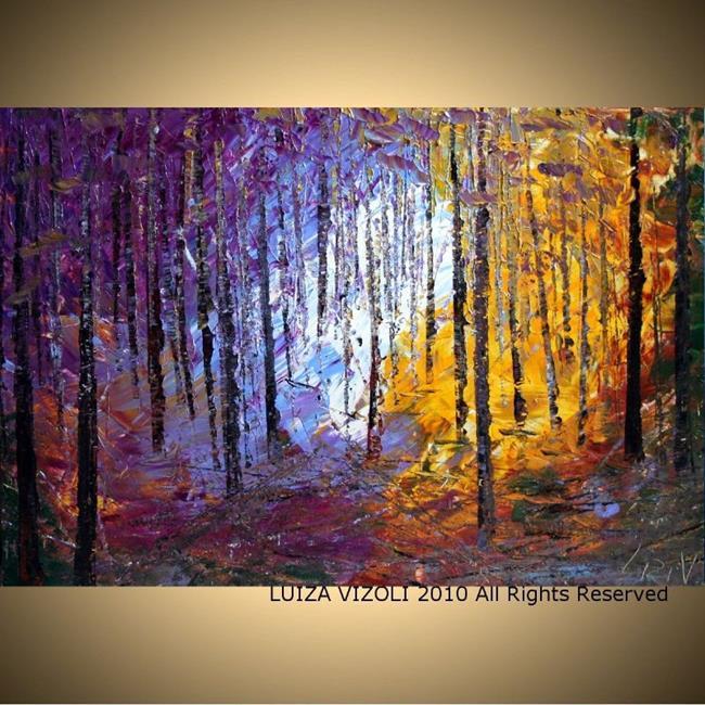Art: North Woods.jpg by Artist LUIZA VIZOLI