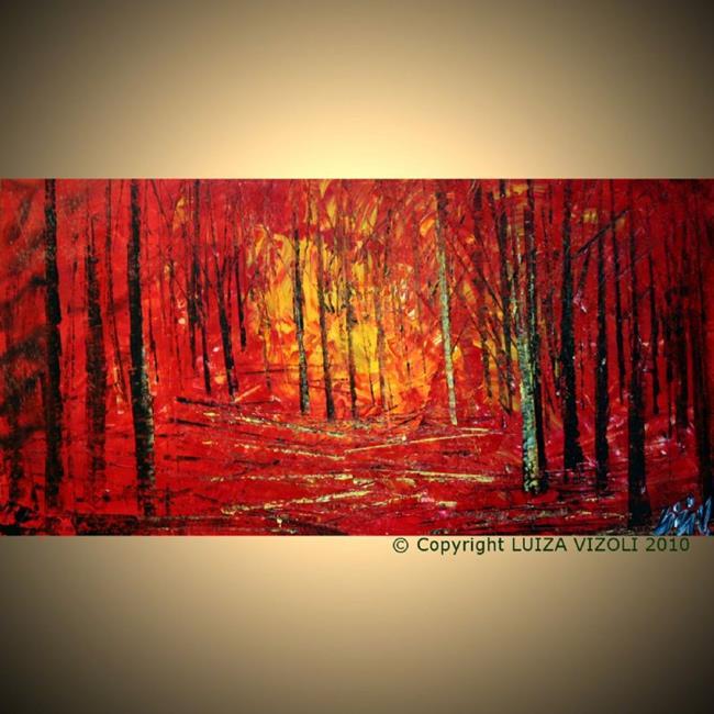 Art: RED FOREST.jpg by Artist LUIZA VIZOLI