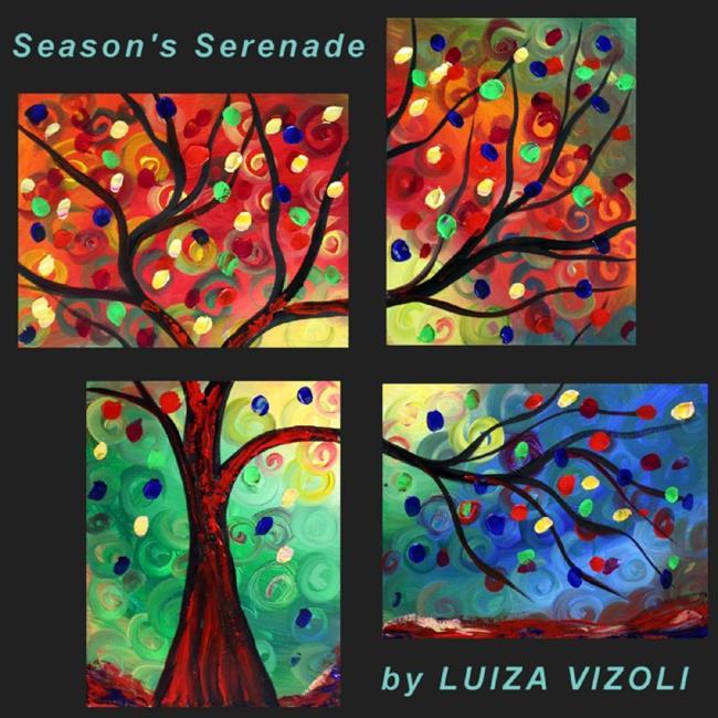 Art: SEASON'S SERENADE by Artist LUIZA VIZOLI