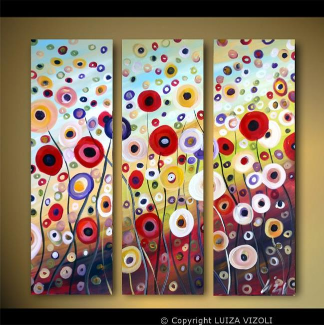 dancing flowers  by luiza vizoli from abstract representational, Beautiful flower