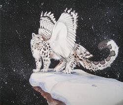 Art: Snowy Night by Artist Nico Niemi