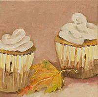 Art: Thanksgiving Day Cupcakes by Artist Delilah Smith