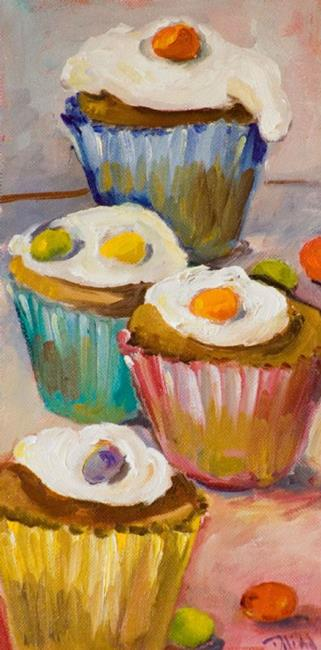 Art: Jelly Bean Cupcake NO 2 by Artist Delilah Smith