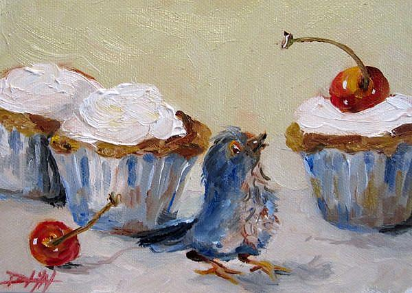 Art: A Fourth of July Cup Cake-sold by Artist Delilah Smith