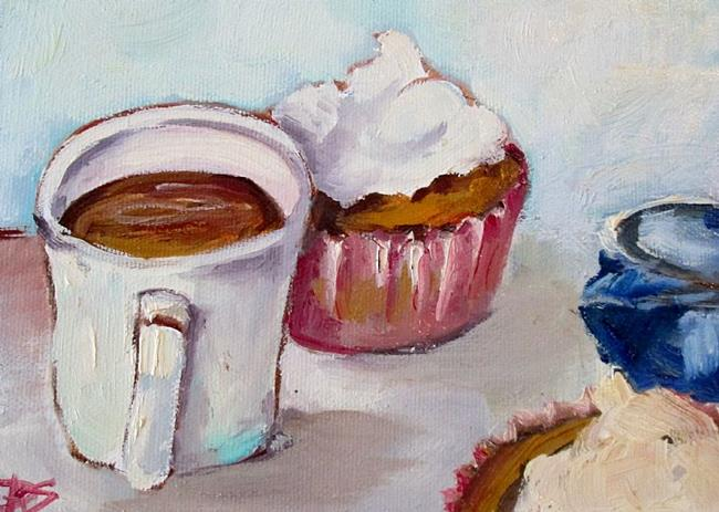 Art: Still Life with Cupcake012 by Artist Delilah Smith