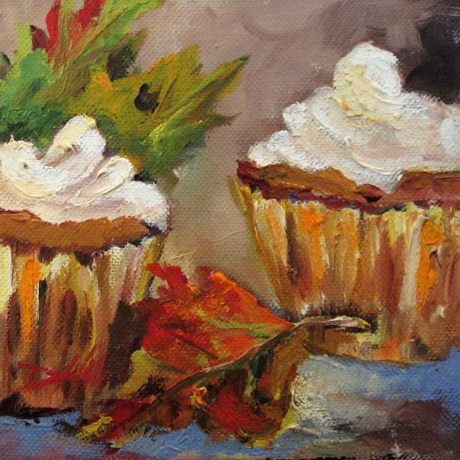 Art: Fall Cupcake by Artist Delilah Smith