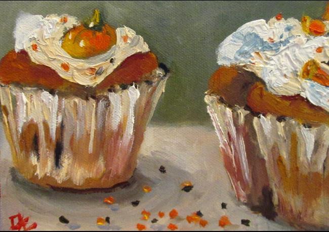 Art: Halloween Cupcakes by Artist Delilah Smith