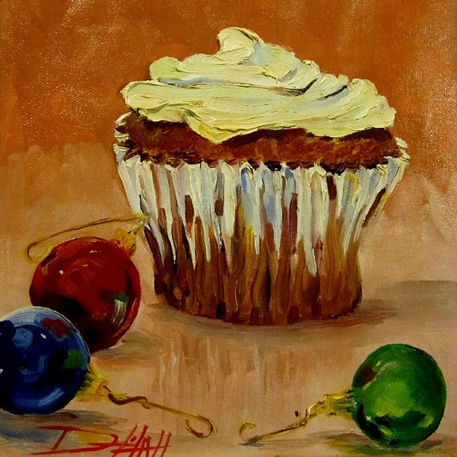 Art: Christmas Cupcake by Artist Delilah Smith