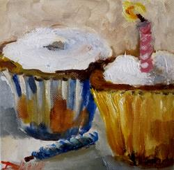 Art: Birthday Cupcakes by Artist Delilah Smith