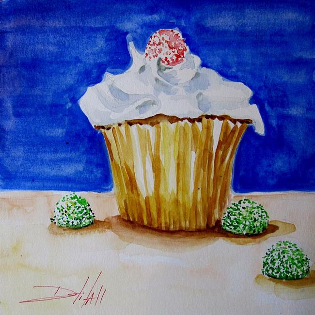 Art: Gum Drop Cupcake by Artist Delilah Smith