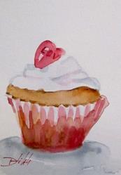 Art: Love Cupcake by Artist Delilah Smith