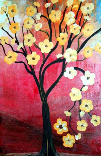 Art: MAGNOLIA'S TREE by Artist LUIZA VIZOLI