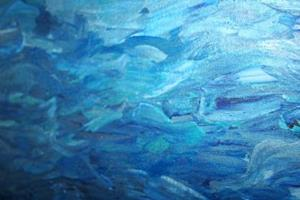 Detail Image for art BLUE RIVER-ABSTRACT WATER-sold