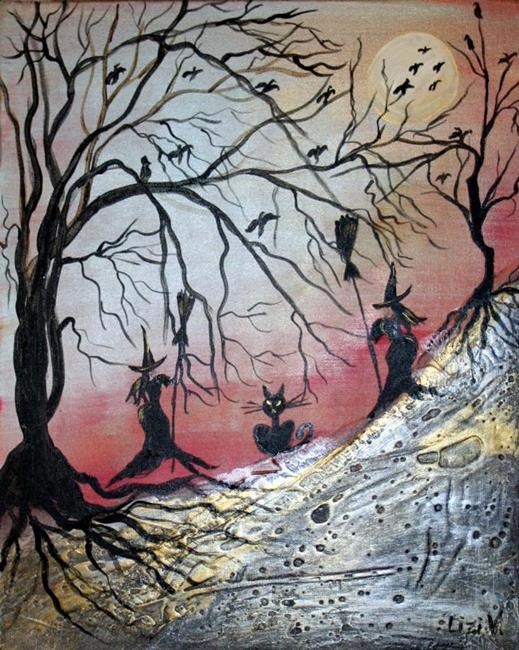 Art: THE WITCHES-sold by Artist LUIZA VIZOLI