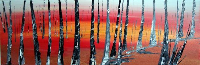 Art: SUNSET-MINNESOTA by Artist LUIZA VIZOLI