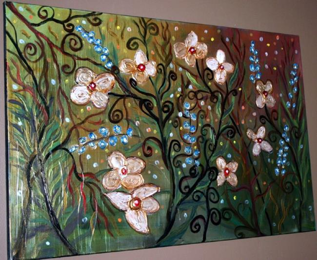Art: MY GARDEN-sold by Artist LUIZA VIZOLI