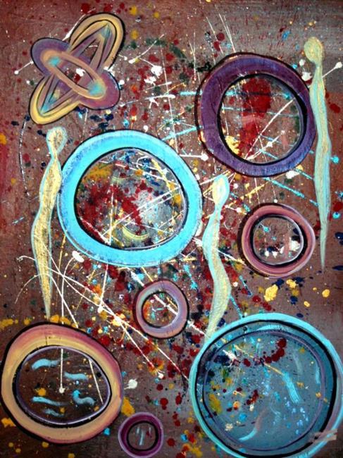 Art: FREE IN UNIVERSE by Artist LUIZA VIZOLI