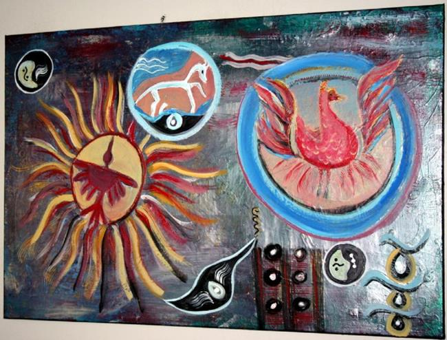Art: FENG SHUI PHOENIX&RUNNING HORSE&CONDOR-sold by Artist LUIZA VIZOLI