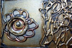 Detail Image for art GOLD CRUCIFIX-PRAYER