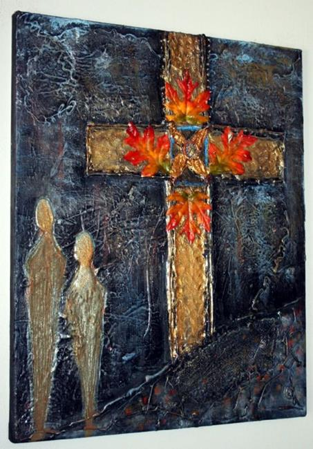 Art: CRUCIFIX-sold by Artist LUIZA VIZOLI