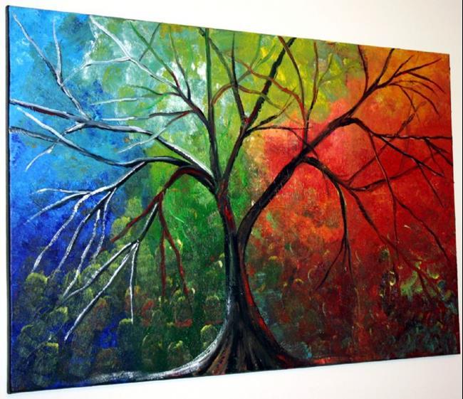 Art: LIFE through SEASONS-sold by Artist LUIZA VIZOLI
