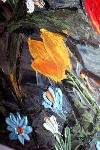 Detail Image for art SNOWDROPS,TULIPS,BLUEBELLS SPRING FLOWERS