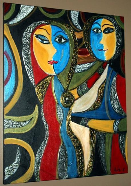 Art: DAY AND NIGHT-SUN&MOON by Artist LUIZA VIZOLI