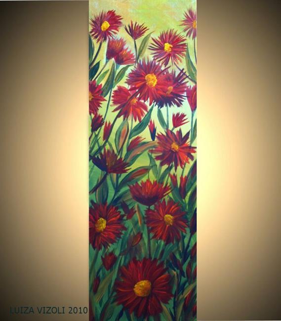 Art: RED FLOWERS by Artist LUIZA VIZOLI
