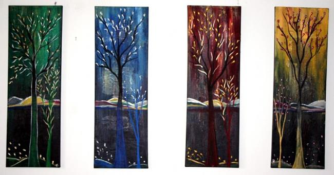 Art: FOUR SEASONS in EDEN by Artist LUIZA VIZOLI